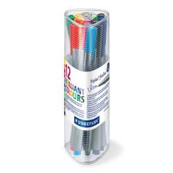 قلم تحديد رفيع تريبلس مثلث من ستيدلر - عبوة من 12 قلم