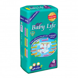 Baby Life Diapers Size 4, 7-14 kg ,44 Diapers