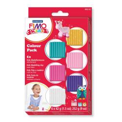 Staedtler Fimo Kids Soft Polymer Clay Basic Set For Girls, Pack of 6