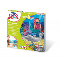 Staedtler Fimo Kids Soft Polymer Clay Mermaid Set For Kids, Pack of 4