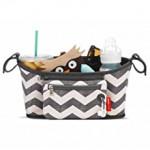 Skip Hop Universal Stroller Organizer: Insulated Beverage and Essentials Stroller Caddy, Chevron