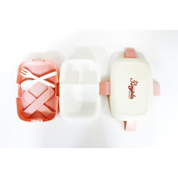 Elliptical Kids School Lunch Box, Pink&White