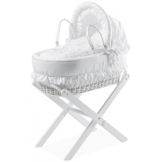 Italbaby Basket Chic Nest Happy Family, White