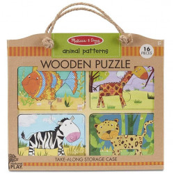Melissa & Doug Wooden Puzzle Animal Patterns