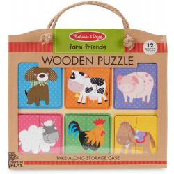 Melissa & Doug Natural Play Wooden Puzzle: Farm Friends