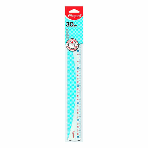 Maped Flat Ruler Attraction 30 cm Stained-30 cm