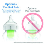 Dr Brown's Y-Cut Wide-Neck Silicone Options+ Teat 2-Pack