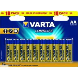 Varta LongLife AA Bateries Pack of 10