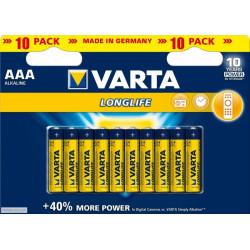 Varta LongLife AAA Bateries Pack of 10