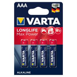 Varta Alkaline Max Tech AAA Batteries, 4 Pack (Blue/Red)