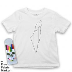Mlabbas Palestine Kids Coloring Tshirt - 5-6 years