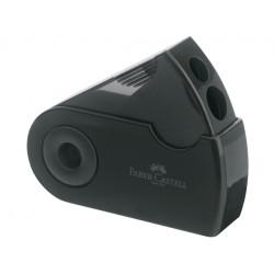 Faber Castell Sleeve Double Hole Sharpener Box, Black
