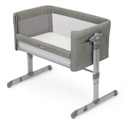 سرير  رومي مع جانب متحرك للأطفال من جوي - اللون الرمادي