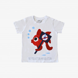 The Orenda Tribe The Fish Kids Coloring T-shirt, 8 years