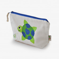 The Orenda Tribe Cotton Canvas Pouch, Turtle