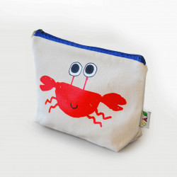 The Orenda Tribe Cotton Canvas Pouch, Crab