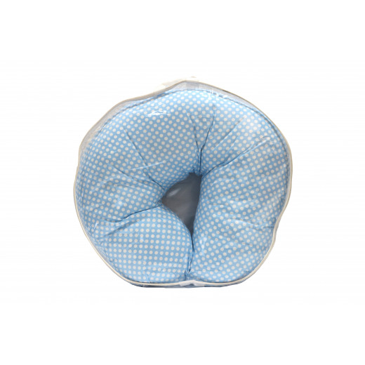 Best Feeling Pillow , Blue Color With White Dots