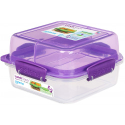 Sistema To Go Rectangle Lunch Stack Box, 1.24L - Purple