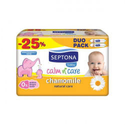 Septona Baby Wipes Chamomile 64 x 2 (25% off)
