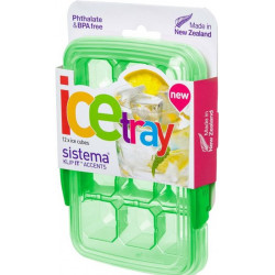 Sistema Klip It Accents Ice Cube Tray With Lid 12 Cubes, Green