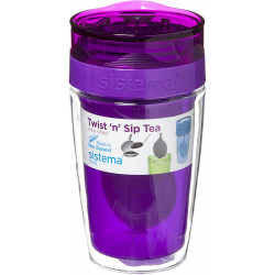 Sistema Twist Sip Tea To Go Travel Mug With Filter, Purple
