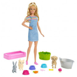 Barbie Play Wash  Pets Doll and Playset