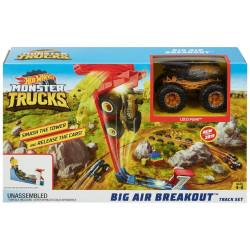 Hot Wheels Monster Toy Truck Slam Launcher Play Set, Multicolour