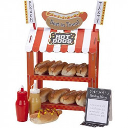 Talking Tables Street Stalls Mini Card Hot Dog or Popcorn Stand