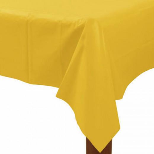 Amscan - Plastic Table Cover Rectangular - Yellow Sunshin