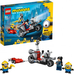 LEGO Minions Unstoppable Bike Chase Toy with Gru, Bob & Stuart Minion Figures,136 Pieces
