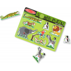 Melissa & Doug Zoo Animals Sound Puzzle - 8 Pieces