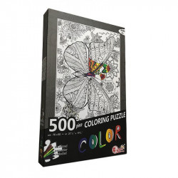 Coloring Puzzle 500 Pieces ( Butterfly )