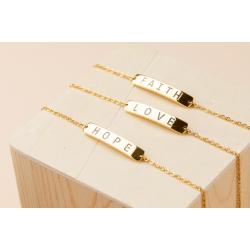 King Hussein Cancer Foundation Set of 3 Bracelet faith, hope, love