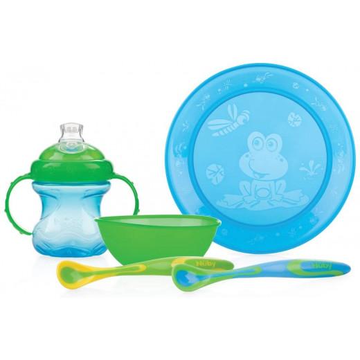 Nuby Fun Feeding™ Set, Blue & Green