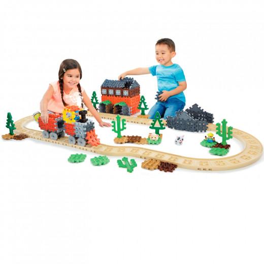 قطار بخاري مع مكعبات الوافل من ليتل تايكس