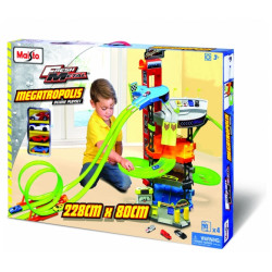 Maisto Car Playset Fresh Metal Megatrpolis Deluxe With Track Loops And Jump