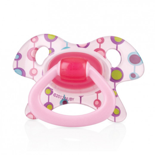 Nuby Pacifier Orthodontic GEO (0-6 Months) - Pink
