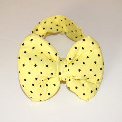 Baby Headbands -Yellow With Black Dots