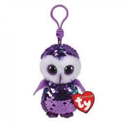 Ty Boos Flippable Owl Moonlight Purple Clip