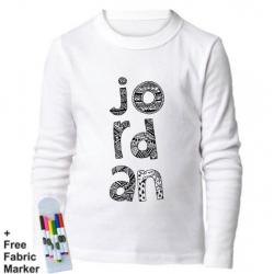 Mlabbas Jordan Kids Coloring Long Sleeve Shirt 1-2 years