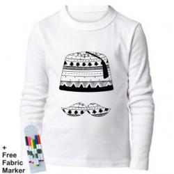 Mlabbas Tarboush Kids Coloring Long Sleeve Shirt 3-4 years