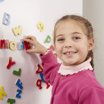 Melissa & Doug Wooden Letter Alphabet Magnets