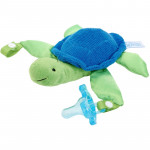 Dr. Brown's Turtle Lovey with Blue One-Piece Pacifier