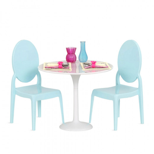 Our Generation, Table For Two, Furniture Set for 18-inch Dolls