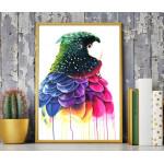 ExtraOrdinary Decorative Wood Framed Wall Art Prints, Parrot, A3 Size