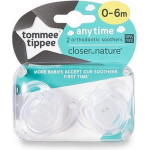 Tommee Tippee Anytime Soother ( 0-6 Months ), X2, White