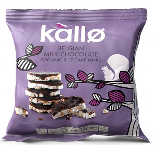 Kallo Lightly  Milk Chocolate Rice Cake Minis 40g