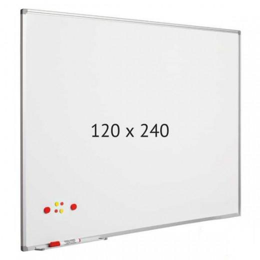 سبورة بيضاء - 120 × 240 سم - مغناطيسية + 1 ممحاة مجانية + قلم للسبورة البيضاء