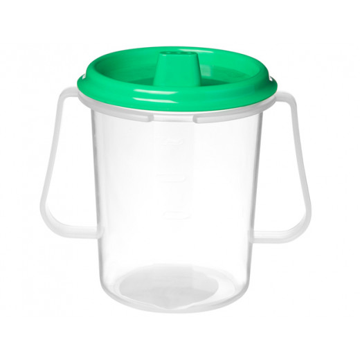 Sistema Drink cup with lid and spout 250 ml Green