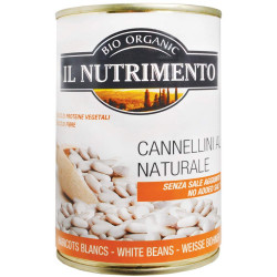 فاصوليا بيضاء عضوية في الماء من إل نوتريمينتو 400 جرام